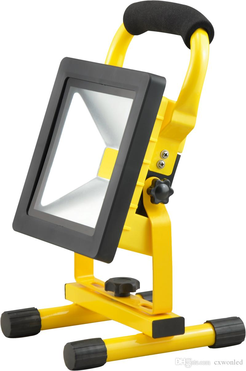 Portable Led Rechargeable Outdoor Flood Light 10w 20w 30w 50w 100 240v Ac Input Ip65 Led Work Light Indoor And Outdoor Led Outside Flood Lights