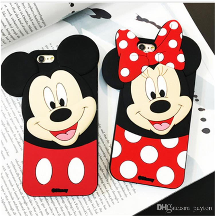 Cartoon Mickey Minnie Mouse Case For