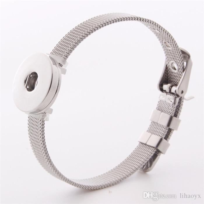 Stainless Steel Noosa Bracelet High Quality DIY Ginger snap button Adjustable Bracelets Fit 18mm snap button Charms Jewelry b104