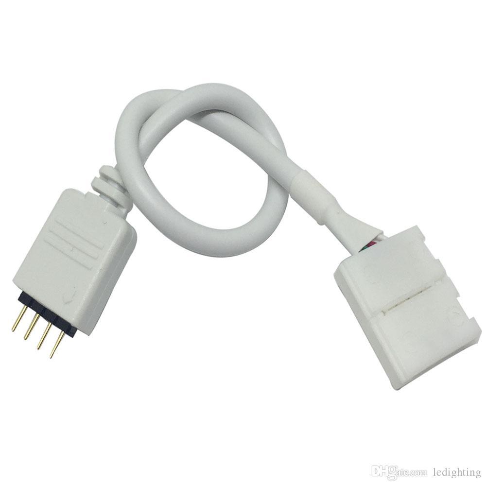 20X4 핀 5050 케이블 드 티라 LLEVADA RGB 접속 용 커넥터 마초 10mm의 케이블 4PIN PCB 설정 제어