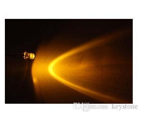 Diodo LED di sfarfallio della candela gialla del foro 1000pcs 3MM per natale ecc
