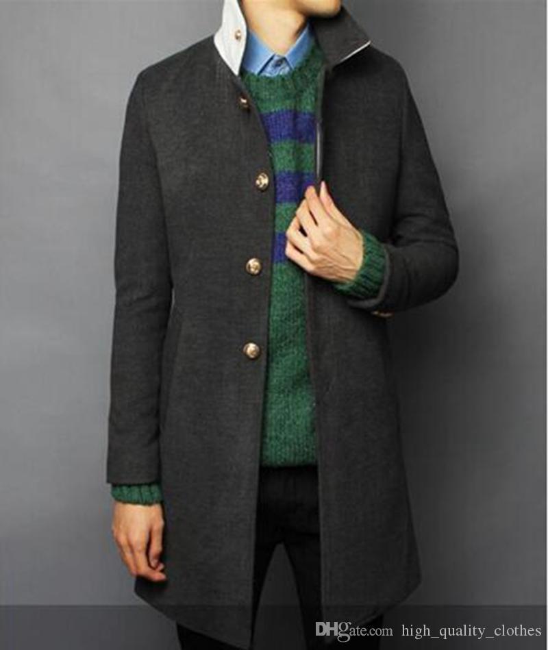 Auf europäische und amerikanische Art und Weise heiße Art feine Han-Ausgabe Männer Winter lange hochwertige Windbreaker Tuch Revers / M-2XL