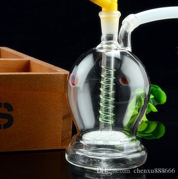 Özel şeklinde dilsiz çift filtre çeşitli olabilir cam nargile, pot aksesuarları göndermek, cam bong, cam nargile, sigara, co