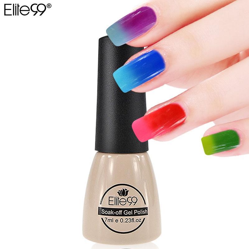 Elite99 7ml Temperaturänderung Chamäleon Farbwechsel UV Nagelgelpoliermittel Langlebige UV Gel Nagellack Wählen Sie 1 Farbe