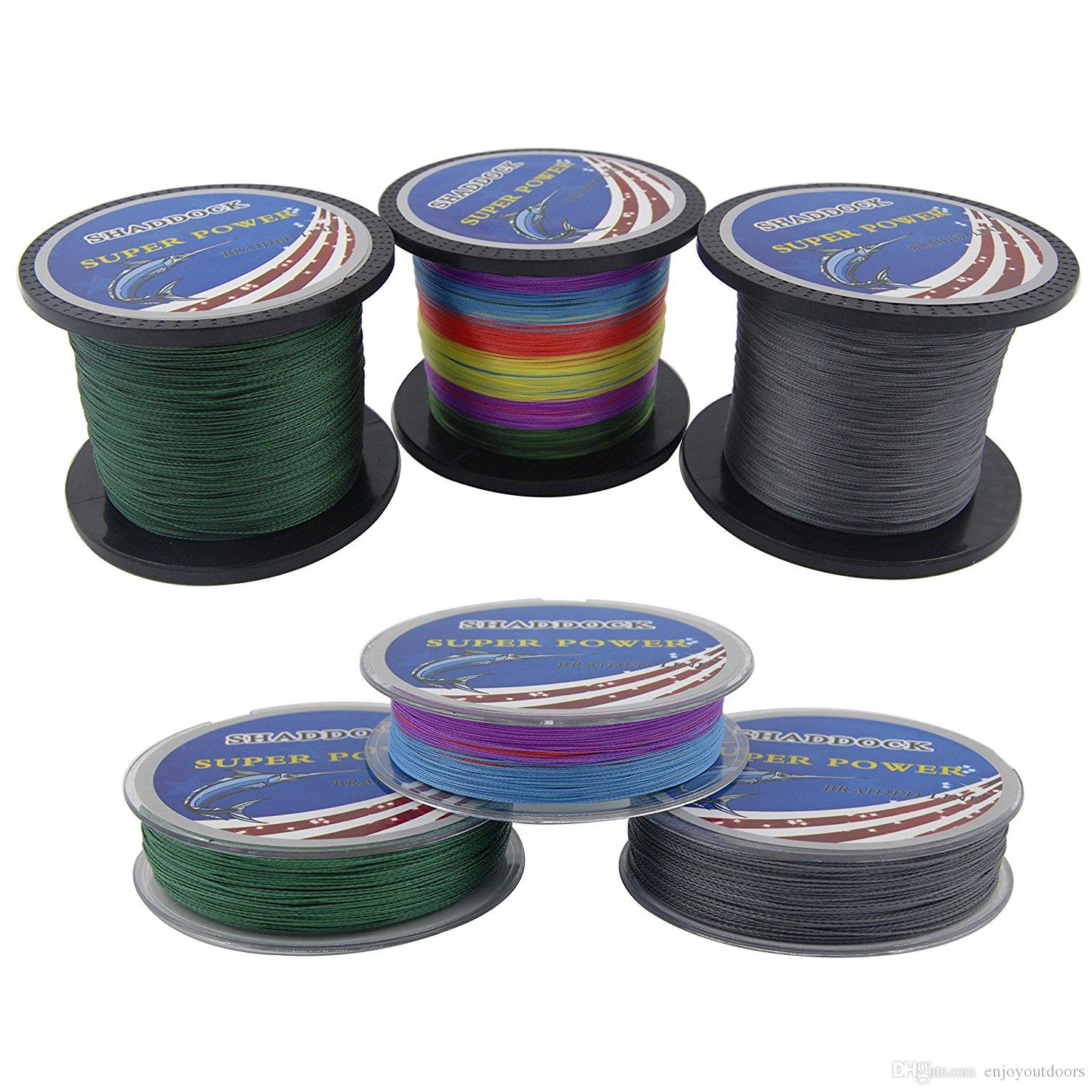 Super Strong 100% PE Braided Fishing Line 100M 300M 500M 1000M Advanced High-strength Fishing Super line with 4-Strands