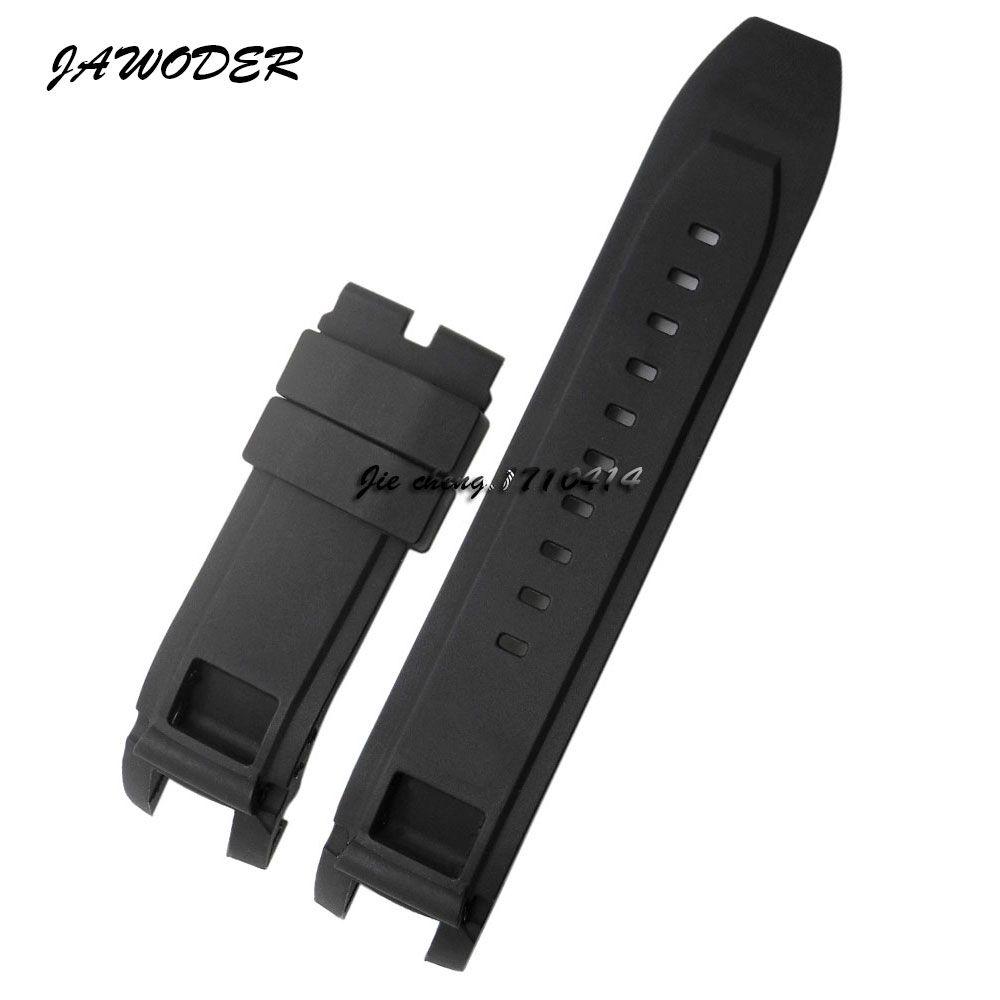 Cinturino cinturino JAWODER New Men 24mm-13mm (24mm con fibbia) Cinturino cinturino in silicone nero con cinturino per INV S1 Rally