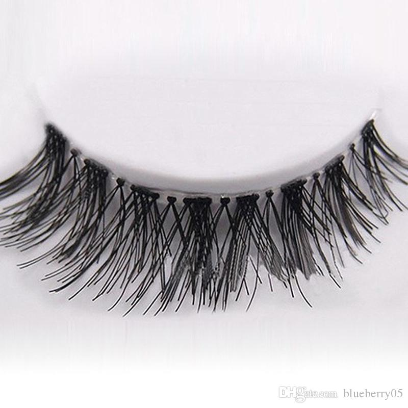 New 50 Pairs Lot Black Natural Cross Fake False Eyelash Soft Long Makeup Eye Lash Extension free shipping
