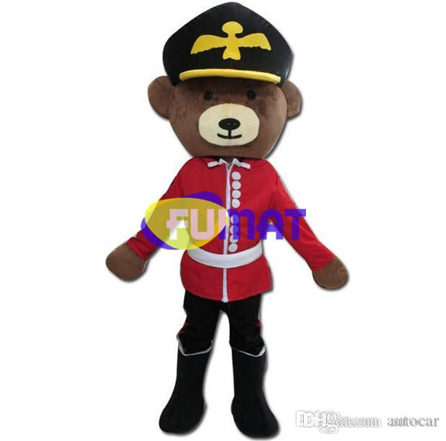 Personalizzazione dell'immagine del vestito operato dal costume della tuta del costume della mascotte del fumetto di alta qualità di FUMAT Black Bear