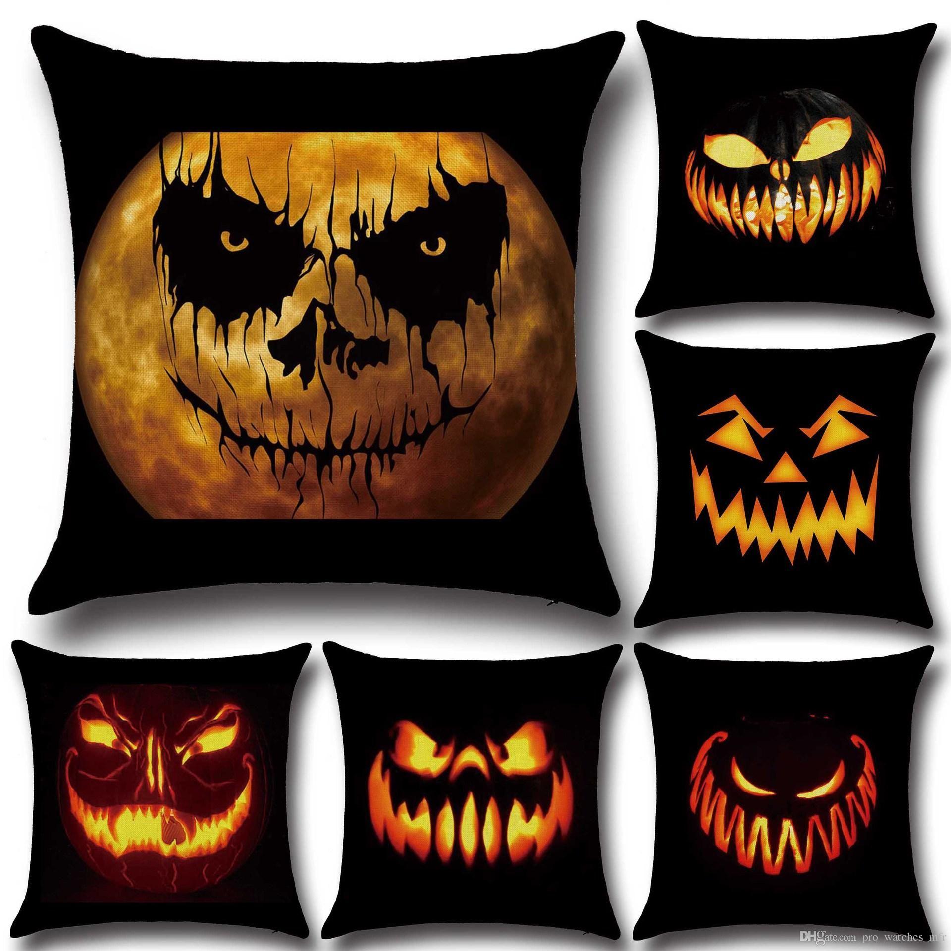 Горячие продажи 48 стилей творческий Хэллоуин наволочки PP стрейч хлопок диван чехлы автомобиль наволочка 45*45 см F818-1