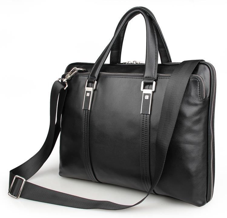 Al por mayor-JMD Moda Real Cow Leather Maletín Top Handle Business Bag Hombres Laptop Bag 7326A