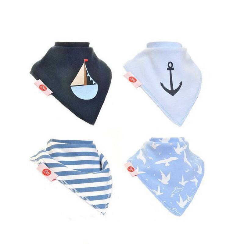 Großhandels-Baby-Lätzchen 4 PCS / lot imprägniern Speichel-Schal-neues 2016 heißes Druckdesign Baberos Bandana-Lätzchen, das Baby füttert, schützen Entwurf 17