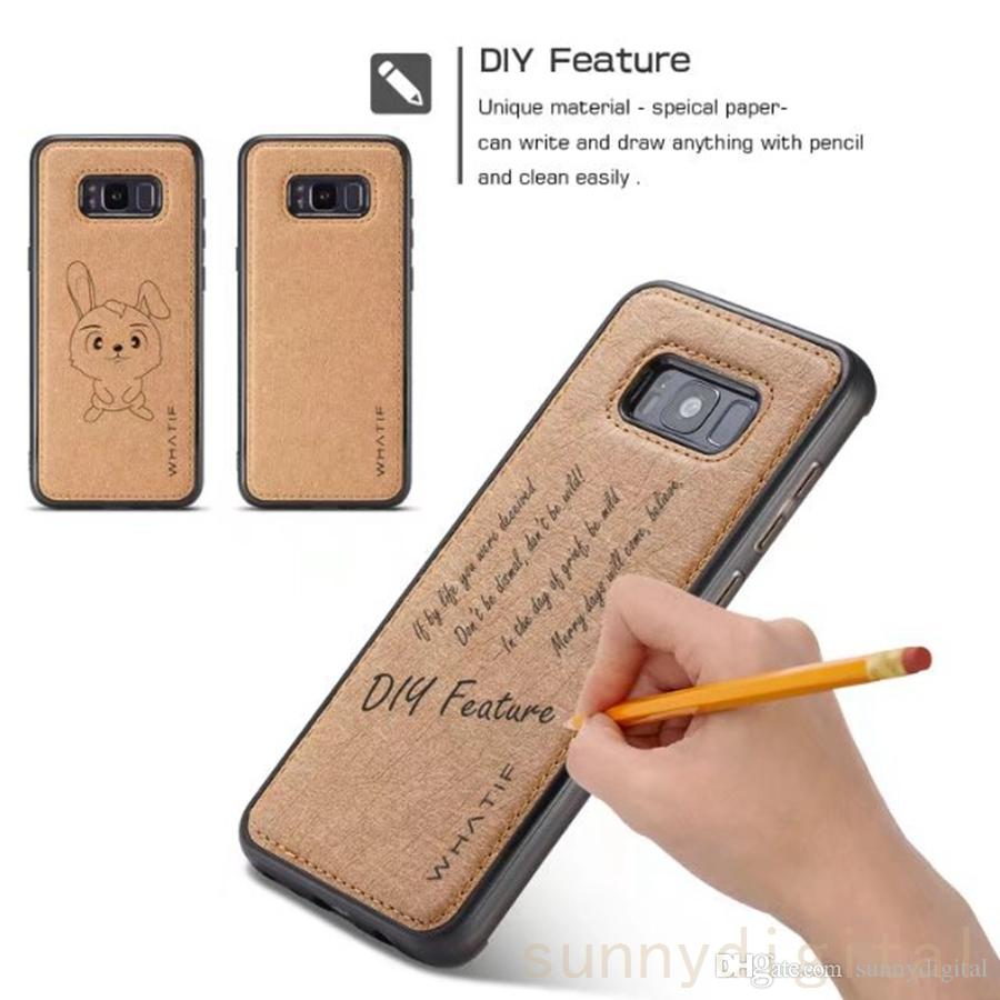 new style 79ae3 22afa For Iphone X 8 8 Plus Unique Material Phone Case Fashion Mobile Back Cover  Can Diy Write Draw For Samsang S8 S7edge Make Your Own Phone Case Cell ...
