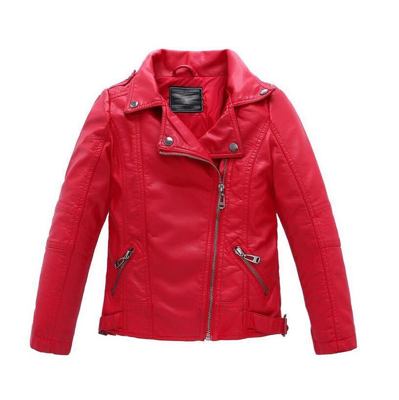 Cheap New Fashion Kids Leather Jacket Girls Pu Jacket Children ...