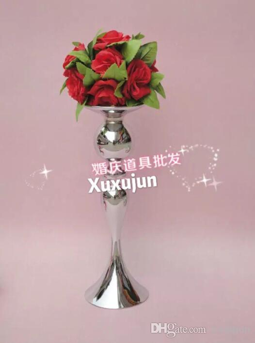 All'ingrosso - nessun fiore compreso, Vaso di fiori d'annata / centrotavola di Tabella / supporto di candela alti 39cm / di trasporto libero