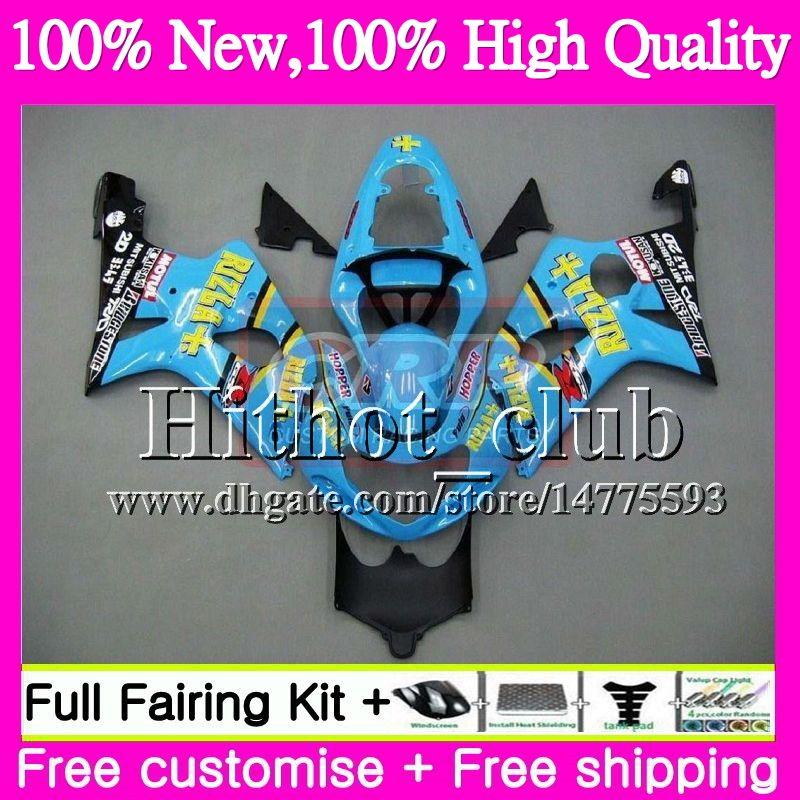 BODYS 스즈키 GSXR 용 1000 CC K2 RIZLA 블루 GSX-R1000 00 02 28HT21 GSXR1000 00 01 02 GSXR-1000 GSX R1000 2000 2001 2002 오토바이 페어링