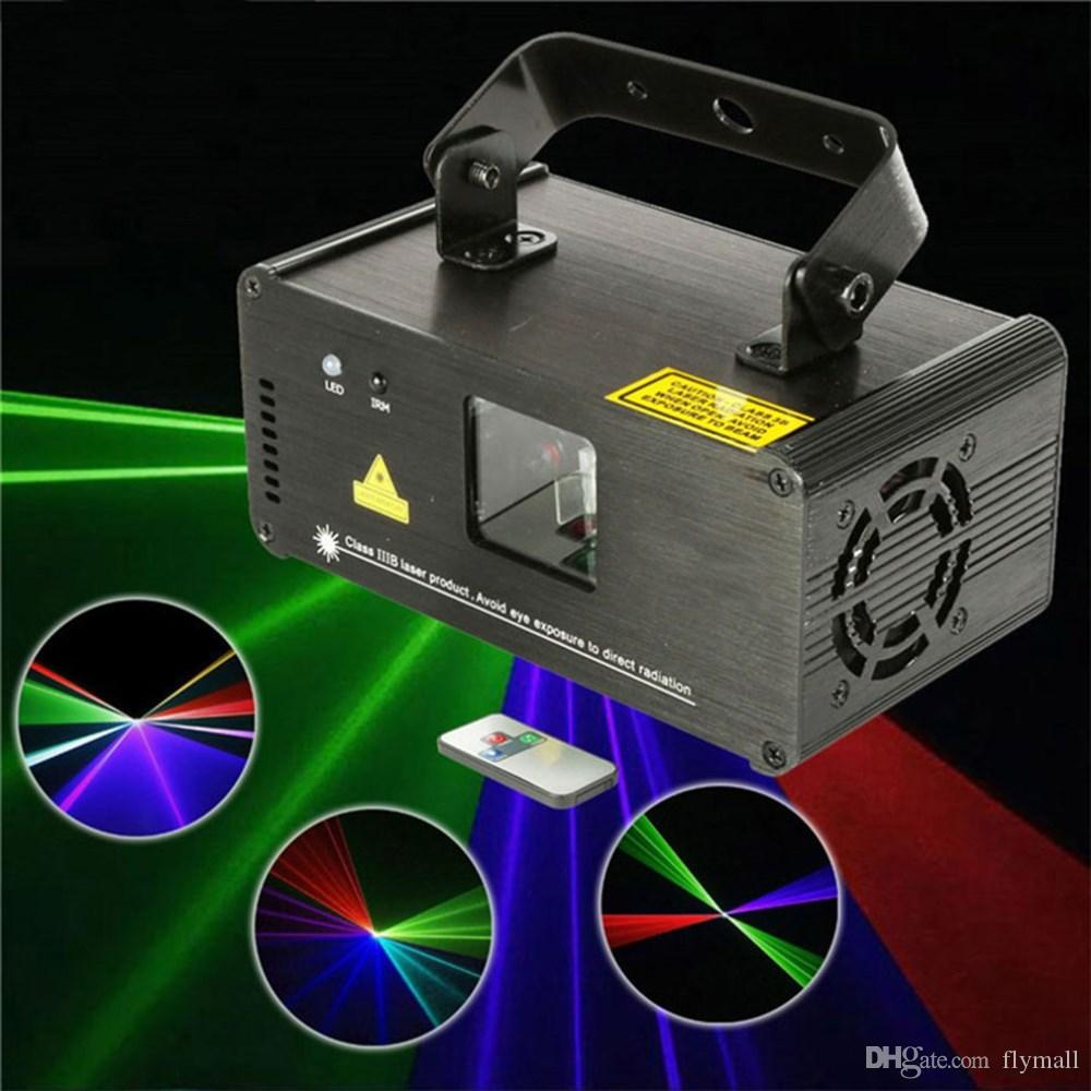 Mini RGB Laser Projector Stage Light Red/Green/Blue DMX LED Stage Lighting With Remote Control Show Disco DJ Party Lights DM-RGB400