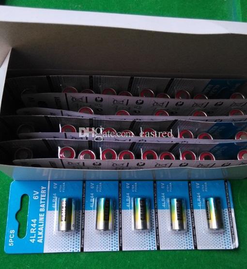 100% frischeste super qualität 476a 4LR44 28A A544 L1325 6V alkalischer Akku 0% Hg Mercury Free 200cards / lot