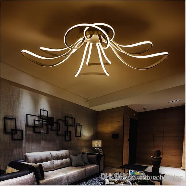 AC85-265V Minimalism Modern led ceiling lights for living room lamparas de techo white led ceiling lamp