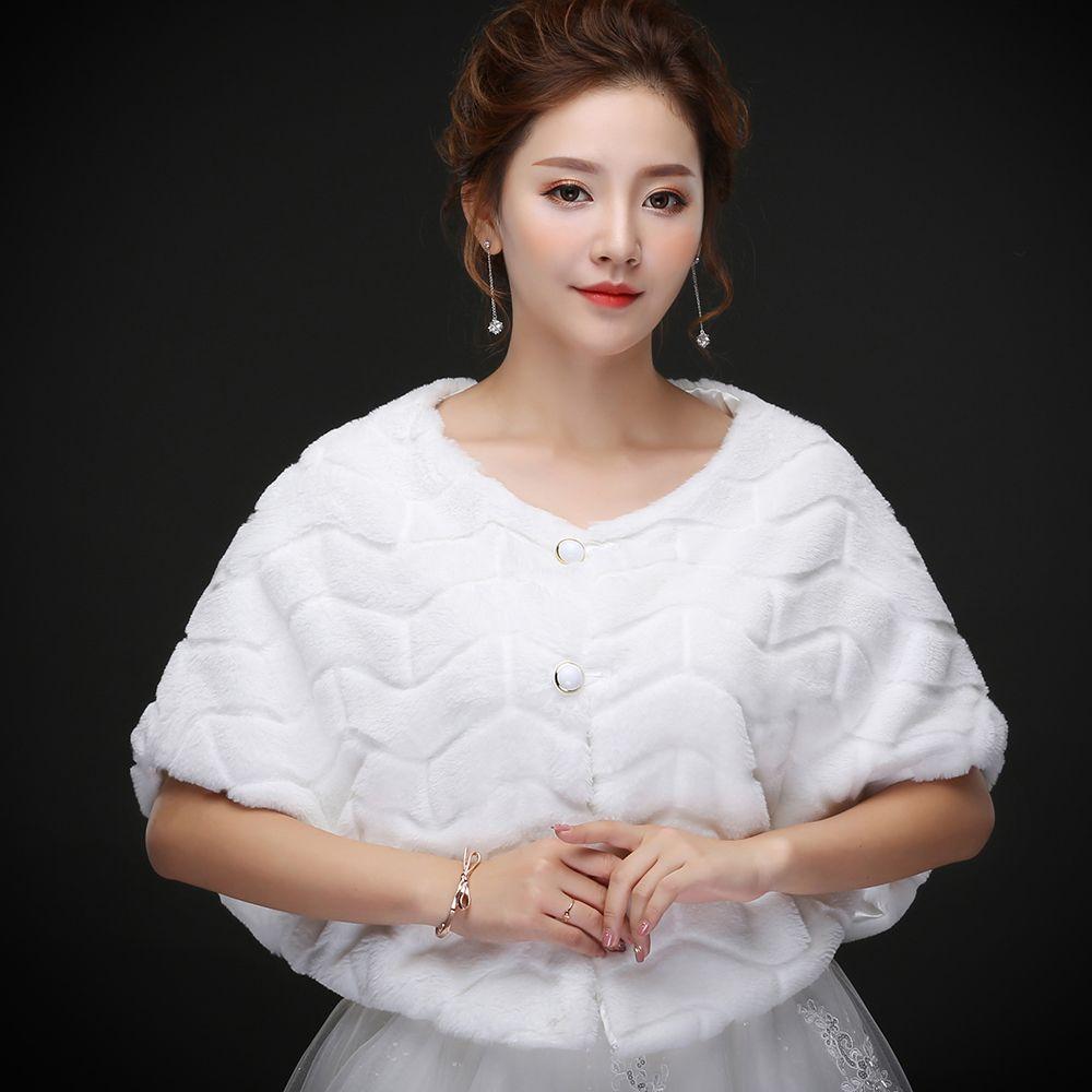 Gerçek fotoğraflar Toptan Lüks Devekuşu Tüy Ücretsiz Boyutu Beyaz Faux Kürk Wrap Şal Ile Düğün Gelin Kış Ceket için