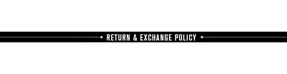 return and exchange policy