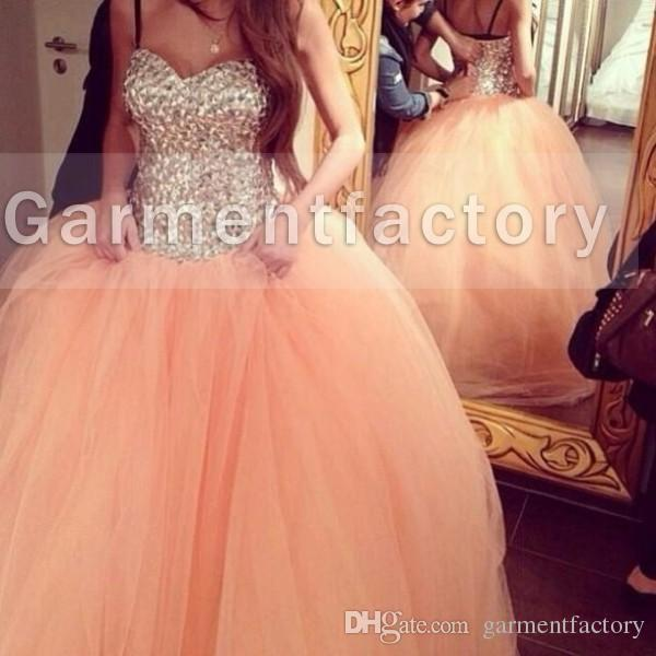 2015 New Ball Gown Prom Dresses Luxury Sweetheart Neckline