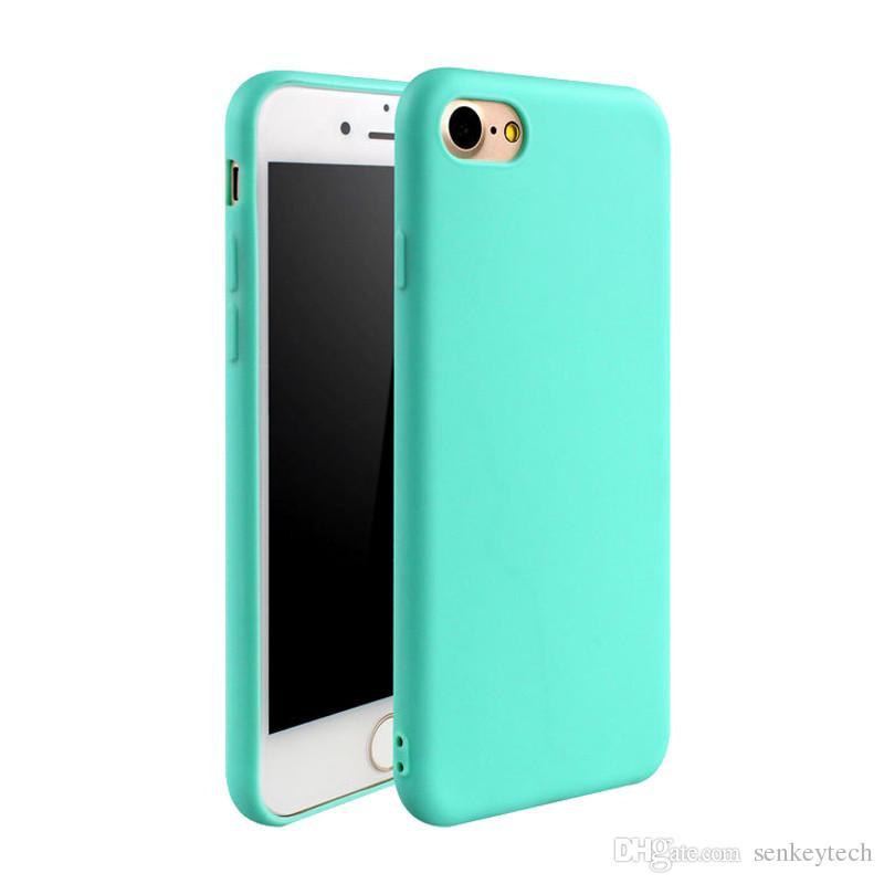 Высокая Qulity ТПУ телефон случае матовый сплошной цвет обложка для Iphone7 7 plus 6 6 S 6plus матовый конфеты цвет мягкий телефон задняя крышка для 5 5s 5se