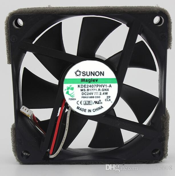 Original SUNON 7CM 24V 2.4W KDE2407PHV1-A 7015 Kühlerlüfter mit 3 Leitungen