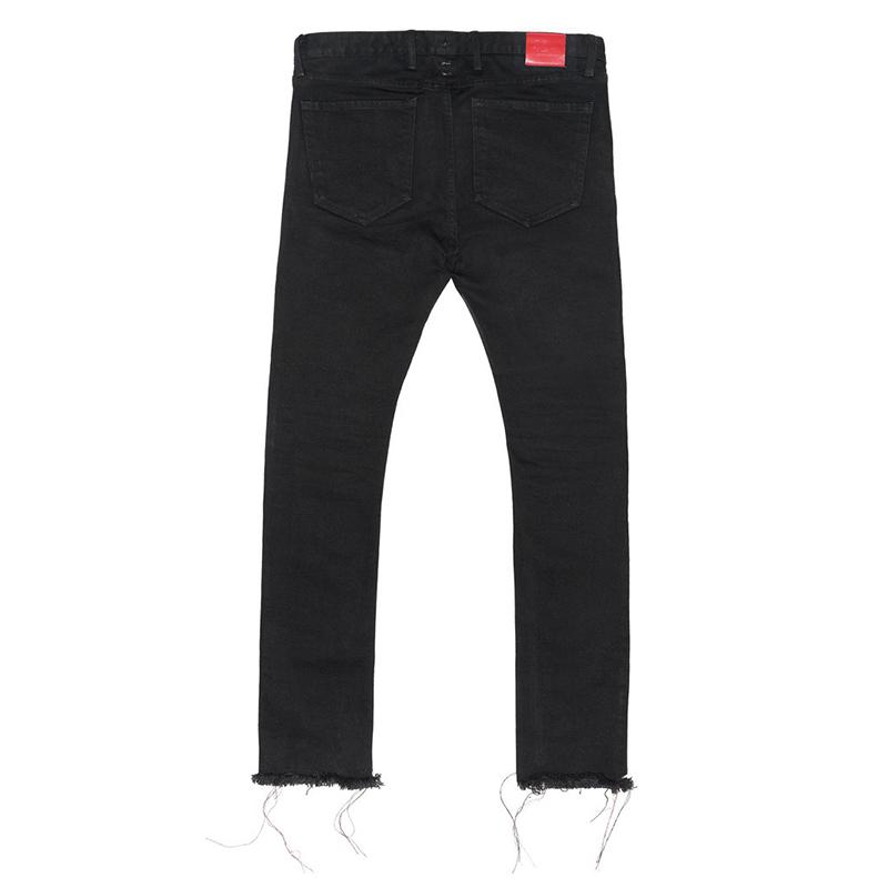 2019 424 Skinny Jeans For Men Hip Hop Raw Edge Black Denim Jeans Pants Fashion Distressed Ripped Zipper Jeans Casual Trousers From Wumartstore888,