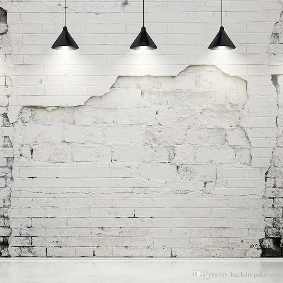 2021 Broken White Brick Wall Photography Backdrops With Black Chandeliers Vintage Interior Backgrounds For Studio Wedding Photo Booth Backdrop From Backdropsfactory 19 1 Dhgate Com