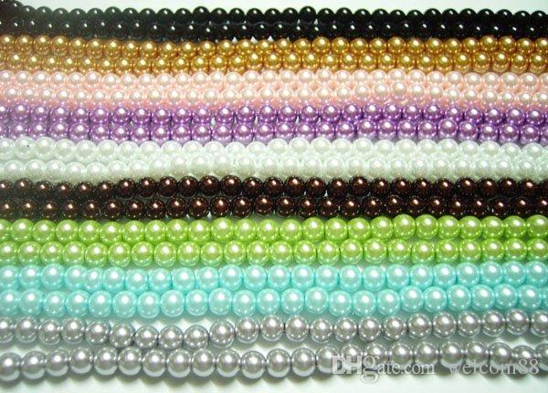 250 pz / lotto vetro rotondo perline sfusa per fai da te moda artigianale regalo 8mm mix colori MP06
