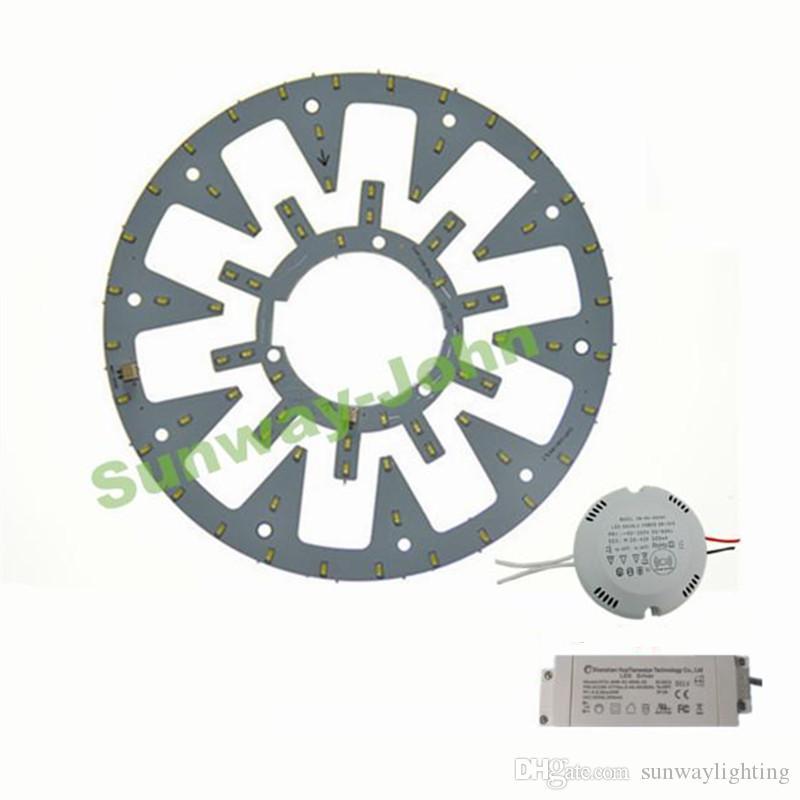 Новый светодиодный круговой светильник Круглый круговой потолочный светильник SMD 5730 Светодиодная панель 10 Вт 12 Вт 15 Вт 18 Вт 21 Вт 24 Вт + AC85-265V CE UL драйвер + магнитный