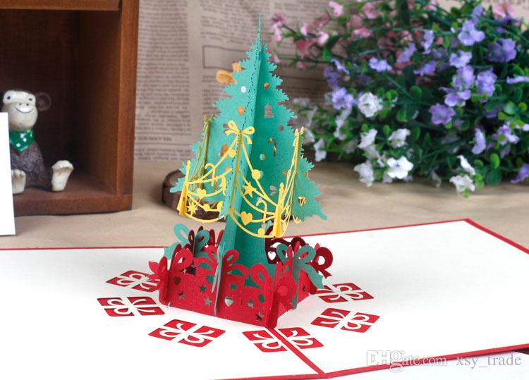 2017 best christmas gift pop up cards tree 3d merry christmas card 2017 best christmas gift pop up cards tree 3d merry christmas card new year greeting gift negle Choice Image