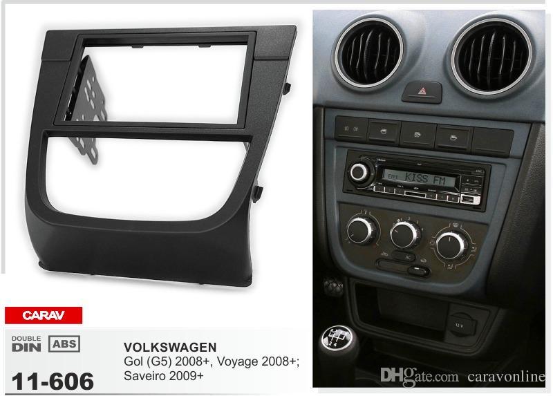 CARAV 11-606 CAR car dash install kit fitting kit for VOLKSWAGEN Gol (G5) 2008+، Voyage 2008+؛ سافيرو 2009+ 2-الدين