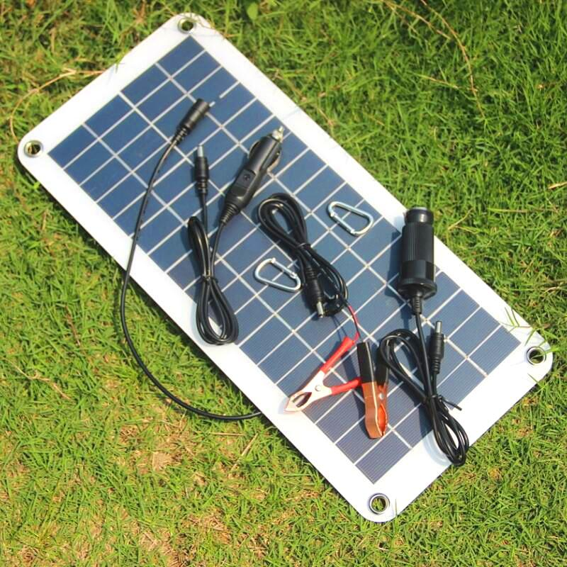 High Quality Semi-flexible 18V/5V 10.5W Portable Solar Panel Charger For 12V Car Boat Motor Battery Charger DIY Solar System Free Shipping