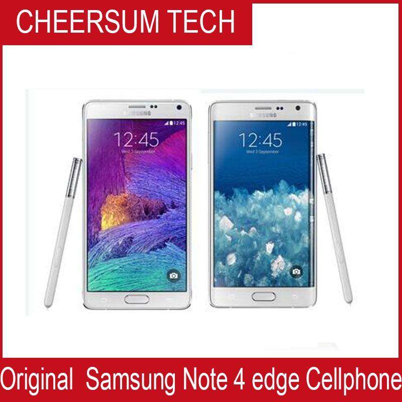 Оригинальный Samsung Galaxy Note 4 Край N915P N915A N915V N915T3GB / 32GB 5,6 дюймов 2560x1440 16MP разблокирован Восстановленный телефон