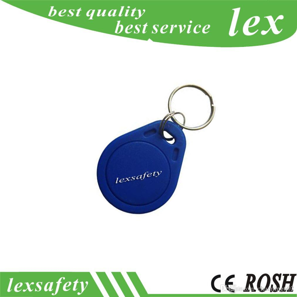 100pcs / lot FM11RF08 lisible et inscriptible carte ABS 13.56mhz 1K RFID porte-clés porte-clés porte-clés