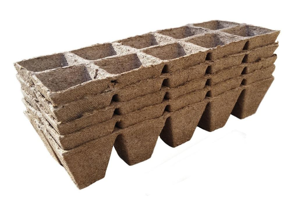 10pcs Seed Starting Pots Seed Starter Pots Trays Biodegradable Peat 10pack - 100Cells