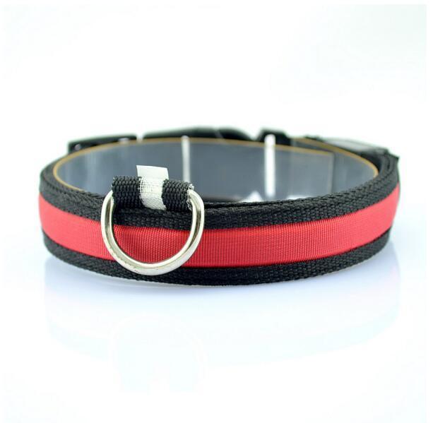 Collars Pet Dog Collar LED Flash Collars Dog Flashlights Dibo America Huskies S M L XL LED Pet Supplies
