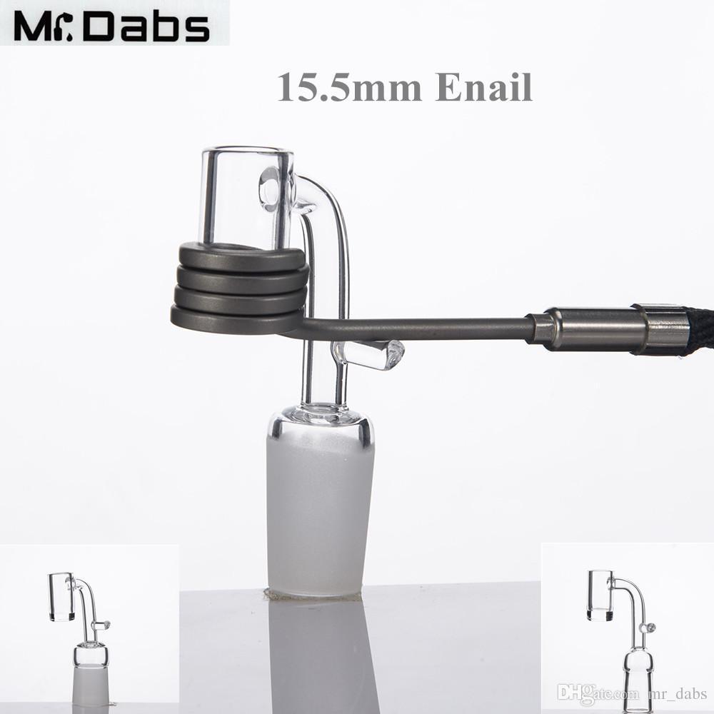 Elektrischer Quarz-Nagel 90 Grad-Quarz-Banger-Nagel bereiftes Gelenk mit 2mm Stärke-Unterseite für 16mm Heizungs-Spule an Herrn-Trieben
