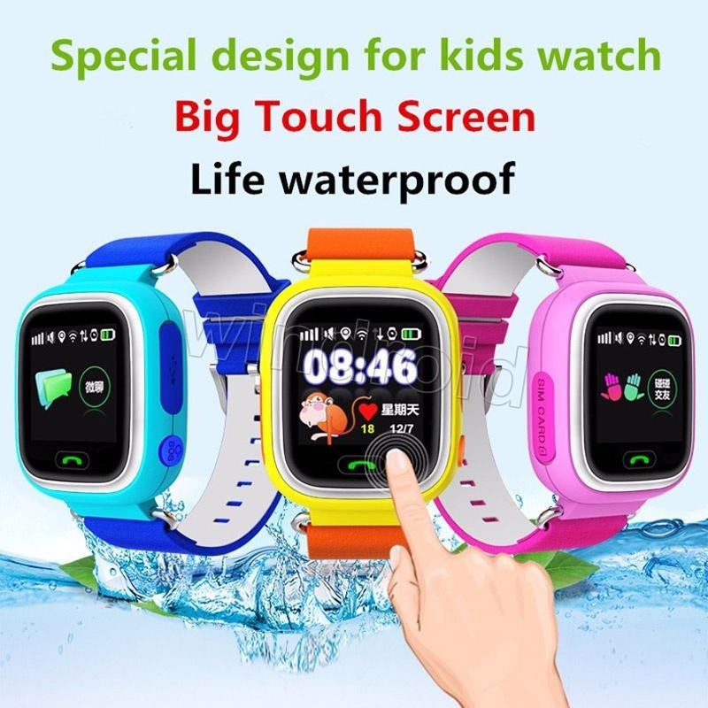 """Q90 WIFI Konumlandırma GPS Akıllı İzle Çocuklar SOS Çağrı Konumu Bulucu Cihazı Izci Çocuk Güvenli Anti-Kayıp Bebek Monitörü 1.22 """"Dokunmatik Ekran"""