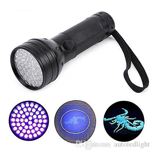 Portable 51 LEDs Ultraviolet Flashlight Blacklight Portable LEDs Ultraviolet Flashlight Blacklight 395nm 5W Detector Hunter Finder