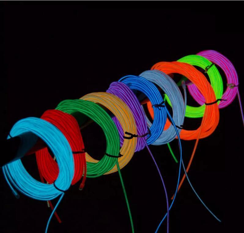 3m Neon Light Glow El Wire Rope Tube Car Bike Bar Dance Party ...