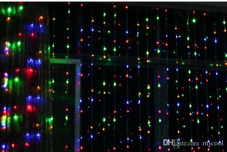 Chegada nova modelo digital luzes dj 16 metergasis casamento fundo levou luzes da festa de cortina de luz lâmpadas de festa de natal luzes de natal