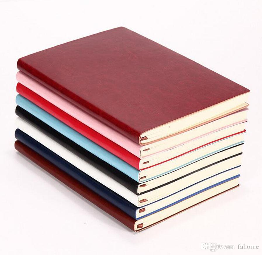 8 Colors Medium A5 Size (14.5cm * 21.5cm) Softcover Notebook - PU Leather - 100 Sheets Travel Journal Notepad Daily Memo for Travelers