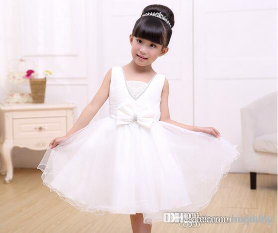 Atacado new kids party dress para meninas bonito menina vestido de noiva verão meninas roupas flores princesa vestidos meninas lace dress