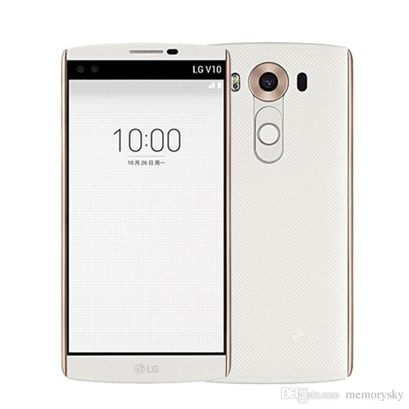 """Original Desbloqueado LG V10 H901 H900 5.7 """"4 GB de RAM 64 GB ROM 16.0MP Câmeras Android 5.1 Recondicionado Do Telefone Móvel"""