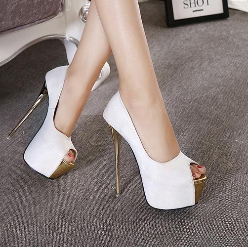 Zarif kadın peep toe platformu ultra yüksek topuklu kırmızı pembe kadife düğün ayakkabı 16 cm 18 cm boyutu 34 40