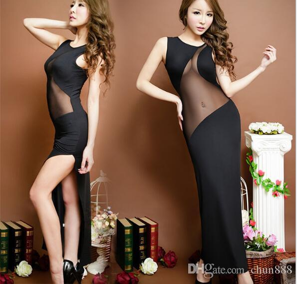 Europe and the United States the new 2017 ms condole sleeveless inclined stripe sexy lingerie dress 6125 dresses long skirt