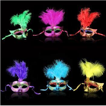 متعدد الألوان الريشة PVC الأميرة قناع مثير هالووماس البندقية Bauta قناع نصف الوجه حزب الرقص قناع حفلة تنكرية تأثيري ديكور