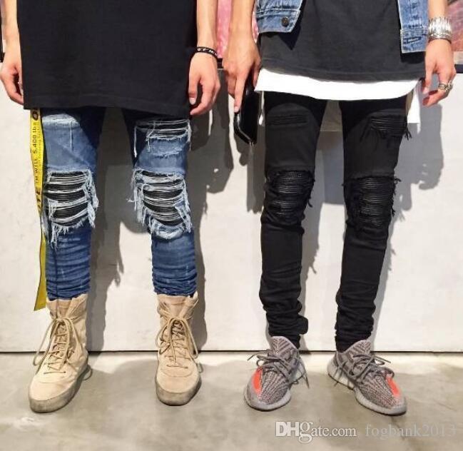 2019 Fashion Skinny Ripped Hip Hop Fashion Pants Cool Mens Urban